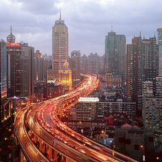 Shanghai Cityscapes by Jens Fersterra