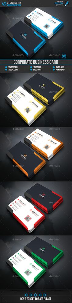 Corporate Business Card — Photoshop PSD #blue #web • Available here → https://graphicriver.net/item/corporate-business-card/15935383?ref=pxcr