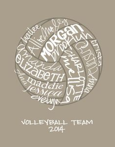 Volleyball Gift... Typography Art 8x10 by lesleygracedesigns