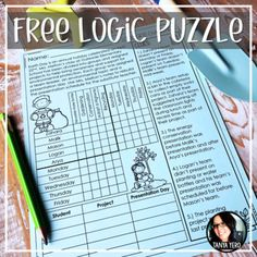 Enjoy this freebie as a sample of one of our logic puzzlers that we offer in our Early Finisher Kits! This free puzzler comes in digital (Google Slides) and print format. Using deductive reasoning, students will use the clues provided to find the solution to the story. Logic Grid Challenges require ... Early Finishers Activities, Earth Day Activities, Logic Puzzles, Teacher Newsletter, Teacher Pay Teachers, Lesson Plans, Teaching Resources, How To Plan, Print Format