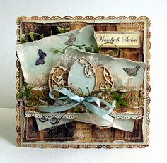Dorota_mk: easterly and the announcement of news :) Shabby Chic Karten, Shabby Chic Cards, Paper Cards, Diy Cards, Handmade Card Making, Beautiful Handmade Cards, Card Making Inspiration, Pretty Cards, Card Tags