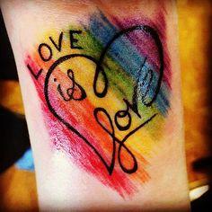 lgbtq tattoos gay tattoo lesbian tattoo queer tattoo rainbow tattoo designs tattoos designs 20 Best Rainbow Tattoos That Symbolize The LGBTQ+ Community In Celebration Of Pride Month tattoos symbols Gay Pride Tattoos, Love Tattoos, Beautiful Tattoos, Body Art Tattoos, Tatoos, Equality Tattoos, Lotusblume Tattoo, Herz Tattoo, Piercing Tattoo