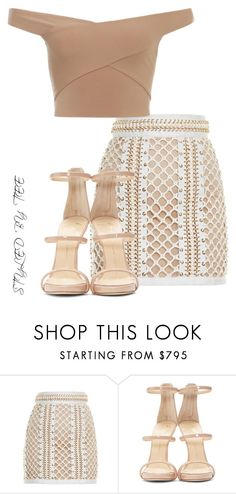 """Untitled #98"" by toniannfratianni on Polyvore featuring Balmain, Giuseppe Zanotti, women's clothing, women, female, woman, misses and juniors"