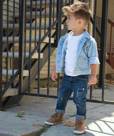 Kids wearing adult clothing styles -