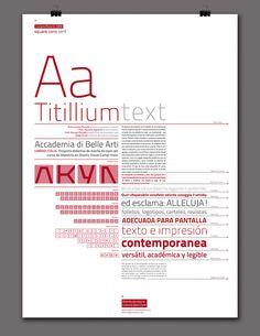 Titillium / Especimen Tipográfico by Lau-im, via Flickr