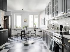Ladrillo visto en la cocina