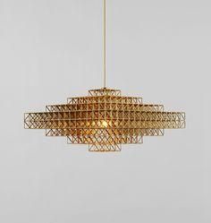 Gridlock pendant light by Philippe Malouin