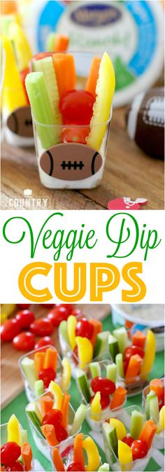 Veggie Dip Cups reci