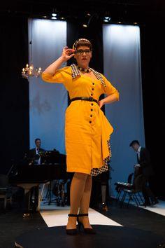 Il Signor Bruschino Headpiece and dress by Lauren J Ritchie Design by Lucy Wilkins Lyric Opera, Headpiece, Dresses For Work, Shirt Dress, Shirts, Design, Fashion, Moda, Headdress