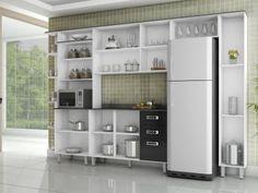 Cozinha Compacta Poliman Móveis Suiça - Nicho para Micro-ondas 9 Portas com as melhores condições você encontra no Magazine Jsantos. Confira!