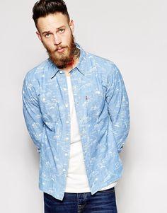Levi's+Denim+Worker+Shirt+in+City+Print