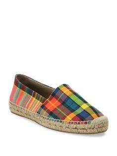 PAUL SMITH Plaid Canvas Slip-On Espadrille Sneakers. #paulsmith #shoes #sneakers