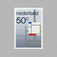 De Stijl. Netherlands, 1983. Design: Wim Crouwel #mnh #mintneverhinged #mnh_nld #postagestamps