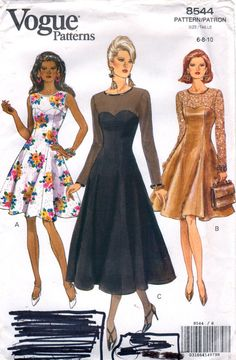 Vogue 8544 Misses Stunning COCKTAIL DRESS Pattern womens sewing pattern by mbchills