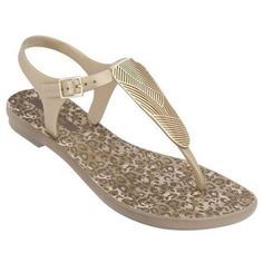 Grendha Women's Savannah Slingback Thong Sandal-Beige-Size 6