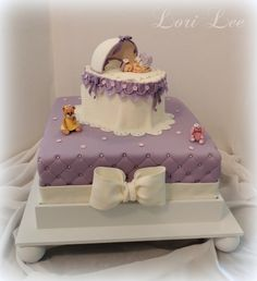 Baby Shower Cakes - Bassinet Baby Shower Cake