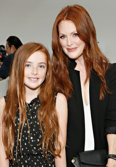 Julianne Moore's daughter is basically her mini me.