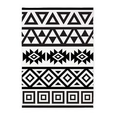 Aztec style pattern in a modern design in monochrome/Black & White. Shop Aztec Influence Ptn B&w Rug designed by Rethnic. Lots of different size and color combinations to choose from. Doodle Patterns, Quilt Patterns, Aztec Patterns, Tribal Pattern Art, Design Set, Pattern Design, Modern Design, Pattern Ideas, Motifs Aztèques