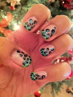 fun take on the leopard print manicure