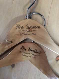 Personalized Bridesmaid Hanger Wedding by AllAboutImpressions
