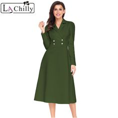 0fdd48f0ea6  US  24.35   amp  La Chilly Robe Hiver 2018 Vintage Long Sleeve Dress