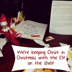 This how we are keeping Christ in Christmas with our elf on the shelf and teaching our kids about Jesus, His grace, salvation, and sharing the gospel.
