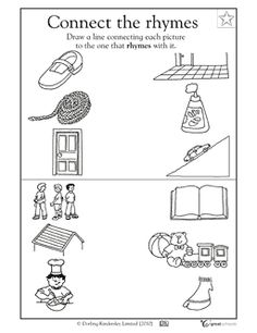 math worksheet : rhyming words the picture and worksheets on pinterest : Rhyming Words Worksheet For Kindergarten