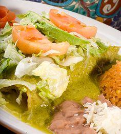 Chicken Enchiladas with Roasted Tomatillo Salsa .... mexican recipes, salsa, cinco de mayo recipes, brined chicken