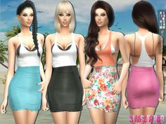 Summer outfit by sims2fanbg at TSR via Sims 4 Updates