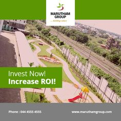 Investing in an upcoming location is a fruitful investment. The cost will be low and reasonable and will pay off in the near future.  Our projects, namely Marutham Classic and Marutham Royal Woods are located in Urapakkam, developing area in Chennai. Don't delay your decision! Make your investment on Marutham apartment and boost your financial balance now.