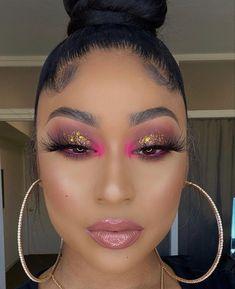 Glitter Makeup Looks, Cute Makeup Looks, Makeup Eye Looks, Eye Makeup Art, Pretty Makeup, Skin Makeup, Beauty Makeup, Mua Makeup, Makeup For Black Skin