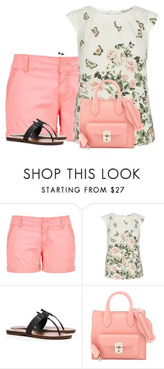 """""""Tory Burch Sandals + Colored Chino Shorts"""" by sherbear1974 ❤ liked on Polyvore featuring maurices, Billie & Blossom, Tory Burch, Balenciaga and Marni"""