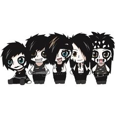 Black Veil Brides found on Polyvore featuring polyvore, women's fashion, accessories, black veil brides, bvb, pictures, andy and anime