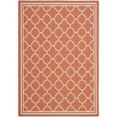Poolside Terracotta/ Bone Indoor Outdoor Rug (5'3 x 7'7) | Overstock.com Shopping - Great Deals on Safavieh 5x8 - 6x9 Rugs