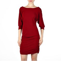 Float Dolman Dress Pomegranate