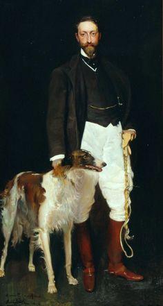 Mompo, Vicente Borras y (b,1837)- Borzoi w Pere Casas Abarca, 1906 -2d