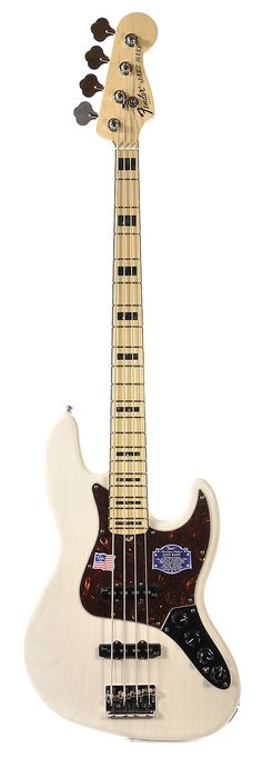 FENDER American Deluxe Jazz Bass White Blonde Ash | Chicago Music Exchange