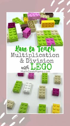 Make multiplication and division fun and hands on with LEGO bricks! In this post, learn all the different ways to model multiplication with LEGO and how to help kids make sense of division in a meaningful way. Teaching Multiplication, Multiplication And Division, Teaching Math, Multiplication Strategies, Math Fractions, Math Teacher, Lego Math, Math Classroom, Teaching