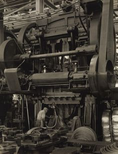 Charles Sheeler Ford Plant – Stamping Press Negative date: 1927