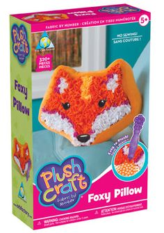 Plush Craft Foxy - No Sewing Required! Fox Pillow, Pillow Fabric, Pillows, Kaleidoscope Toy, Plush Craft, Best Kids Toys, Craft Kits, Craft Ideas, Crafts For Teens