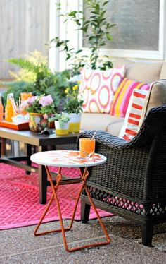 Colorful Patios at ModVintageLife.com
