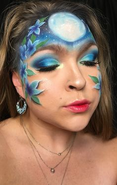 Instagram.com/Janelle_raisch Flower Makeup, Makeup Art, Makeup Looks, Carnival, Face, Flowers, Instagram, Pop Art Makeup, Make Up Styles