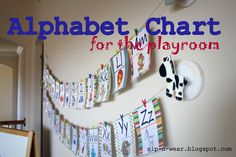 DIY Alphabet chart perfect for a play room or kids bedroom