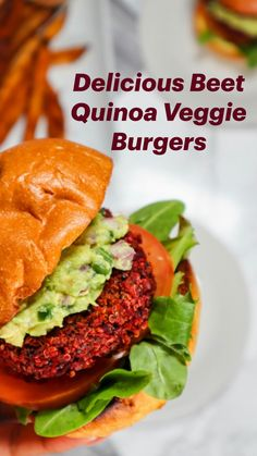 Plant Based Recipes, Vegetable Recipes, Vegetarian Recipes, Healthy Recipes, Keto Recipes, Healthy Food, Quinoa Veggie Burger, Vegan Burgers, Whole Food Recipes