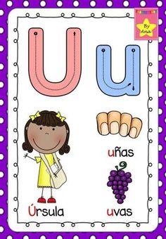 L a maestra Ana Luisa nos comparte  Abecedario repaso psicomotriz ...