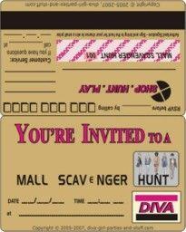 Ultimate mall scavenger hunt list a fun item list filled with mall scavenger hunt invitation filmwisefo