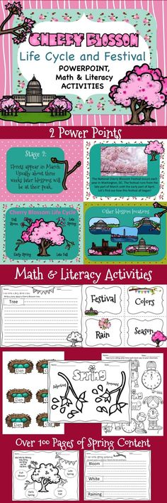 So excited to *Celebrate* the Cherry Blossom Festival with this amazing mega pack! It has two Power Points, math and lit activities and the activities go right along with the Power Point! Great value!
