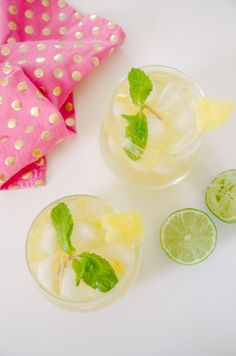 If you're on the hunt for a delicious tropical cocktail, look no further than pineapple coconut mojitos. Recipe and ingredients here.