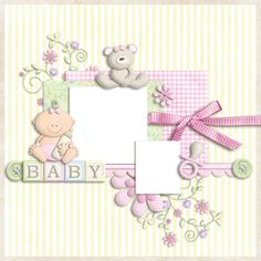 """Photo from album """"Baby Cakes"""" on Yandex. Baby Girl Scrapbook, Baby Scrapbook Pages, Project Life Scrapbook, Scrapbook Albums, Scrapbook Cards, Scrapbook Designs, Scrapbooking Layouts, Baby Girl Clipart, Christening Invitations Girl"""