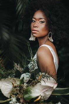 Showstopping Wedding Gowns from South African Designer Jeannelle l'Amour Bridal Bridal Makeup Looks, Bridal Beauty, Wedding Beauty, South African Weddings, African American Weddings, Nigerian Weddings, Disney Wedding Dresses, Wedding Gowns, Wedding Hijab